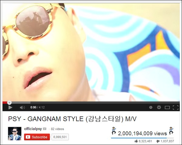 gangnam style cua psy dat 2 ty luot xem - 3