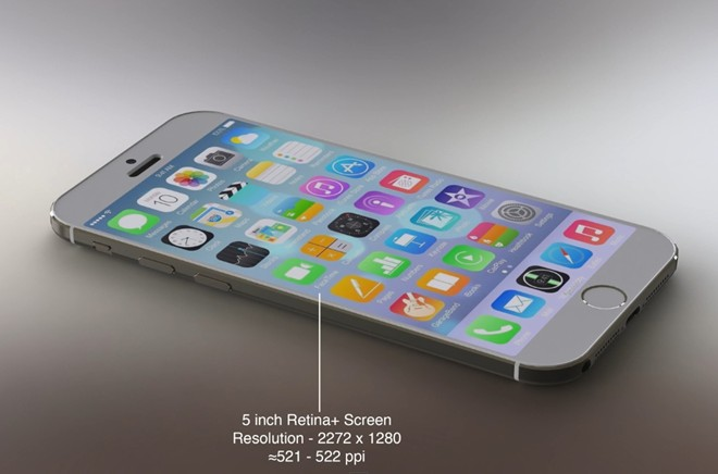 y tuong iphone 6 chay ios 8 voi man hinh 5 inch - 1
