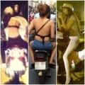 Thời trang - Thời trang ngồi xe máy kém duyên của thiếu nữ