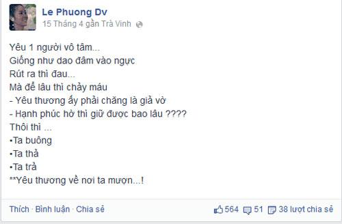 """le phuong: """"vut bo la giai thoat"""" - 6"""