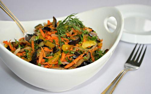 salad ca tim chien ngon, la mieng - 5