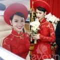 Thời trang - Cận cảnh áo dài cưới tuyệt đẹp của Trà My Idol