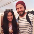 Làng sao - Em chồng Hà Tăng rạng rỡ bên David Beckham