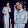 """Thời trang - Vợ Phan Thanh Bình """"thổi hồn"""" vào áo dài trắng"""