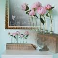Nhà đẹp - Lọ hoa cá tính làm từ gỗ + ống nghiệm