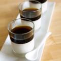Tráng miệng với panna cotta cà phê