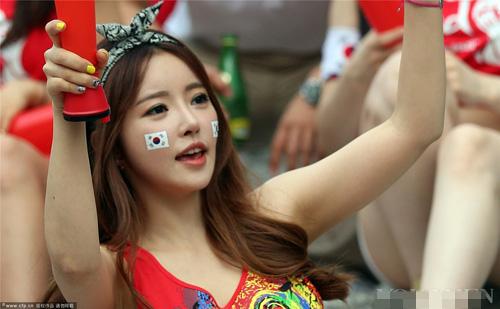 ngat ngay ve dep cua fan nu han quoc tai world cup - 14
