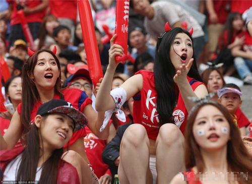 ngat ngay ve dep cua fan nu han quoc tai world cup - 6
