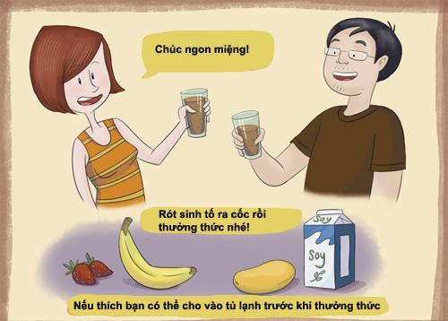 thuong thuc sinh to chuoi, chocolate ngon me - 3