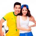 Làng sao - Nguyên Khang và hot girl Chi Pu cổ vũ World Cup