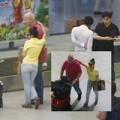 Làng sao - Thu Minh tình cảm khoác vai chồng ở sân bay