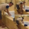 Làng sao - Mr Đàm tự tay giặt đồ ở khách sạn Las Vegas