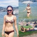 Làng sao - Lan Phương mặc bikini nóng bỏng ở Thụy Sĩ