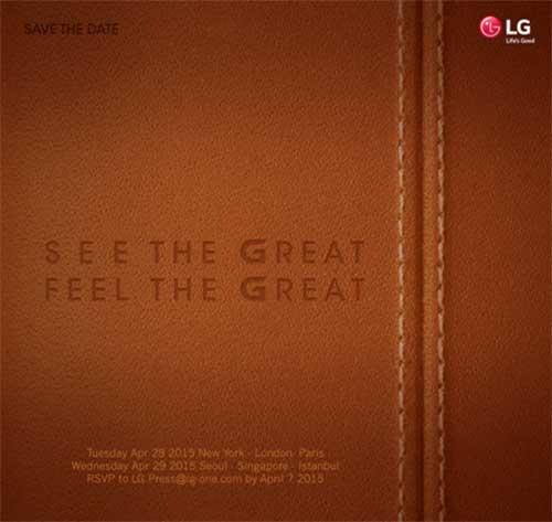 LG tổ chức sự kiện G4 đồng thời ở 6 quốc gia vào 28/4-1