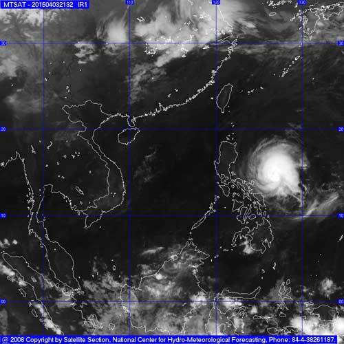 Siêu bão Maysak giật cấp 14 có khả năng vào biển Đông-1