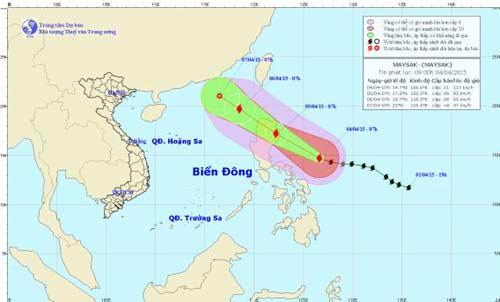 Siêu bão Maysak giật cấp 14 có khả năng vào biển Đông-2
