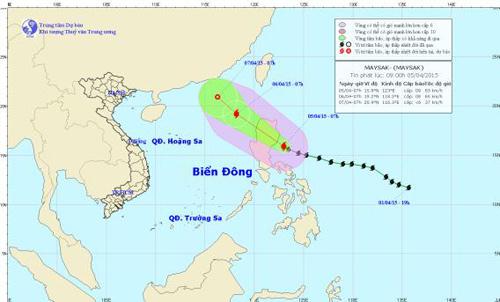Chiều tối 5/4, bão Maysak giật cấp 11 tiến vào Biển Đông-1