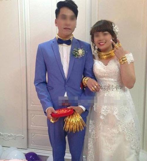 """Những cô dâu suýt """"gẫy cổ"""" vì vàng trong ngày cưới-6"""