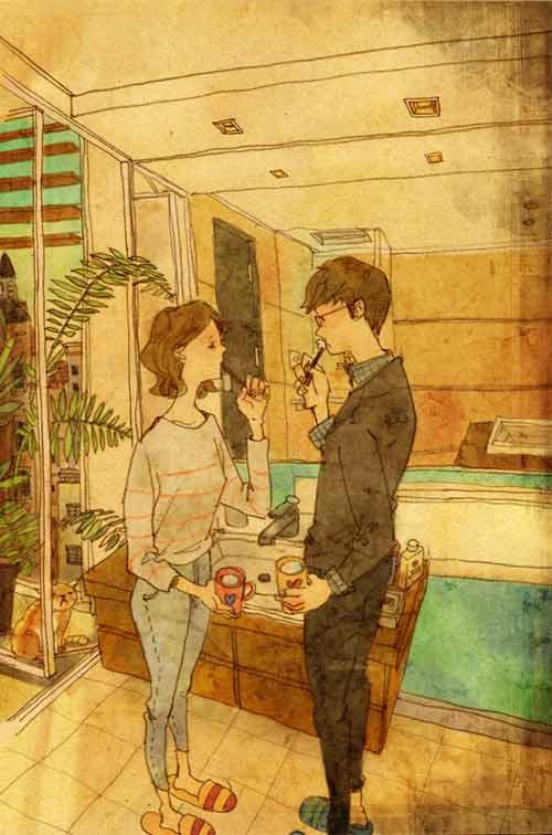 bo tranh dang yeu ve cuoc song vo chong hanh phuc - 10