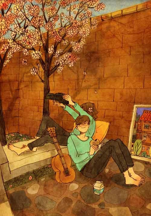 bo tranh dang yeu ve cuoc song vo chong hanh phuc - 15