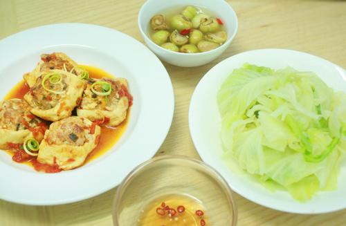 Bữa cơm giản dị cho nhà có hai người-1