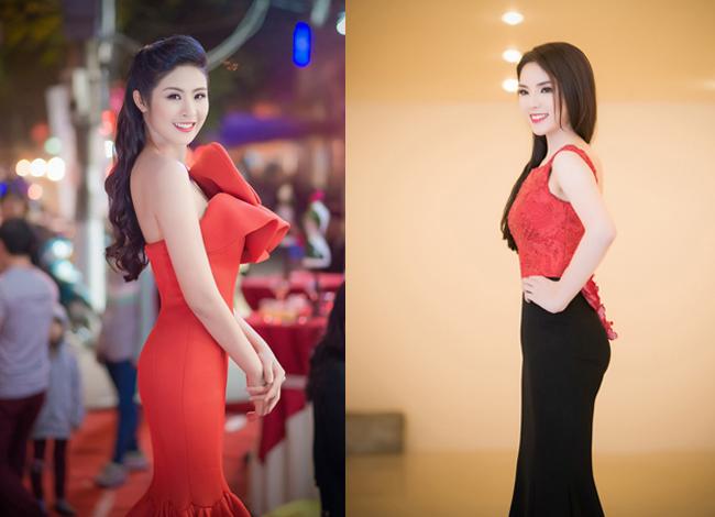 Tối qua (9/4), hai Hoa hậu Kỳ Duyên và Ngọc Hân cùng tham dự một sự kiện tại thành phố Hải Phòng. Hai người đẹp diện những bộ đầm bó sát khoe đường cong quyến rũ.