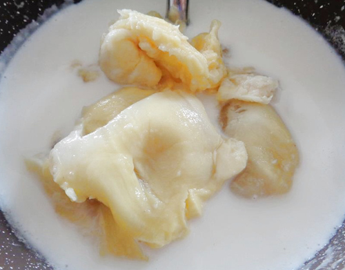 Cách làm kem sầu riêng không cần máy - 3