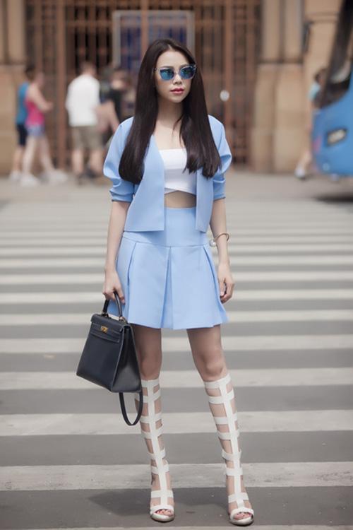 mau xanh baby chinh phuc cac my nhan giai tri - 2