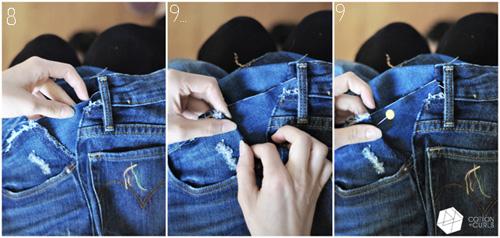 meo doi pho voi quan jeans bi chat va gian rong - 10