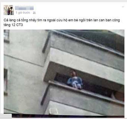 thot tim cuu be 4 tuoi vat veo ngoai ban cong tang 12 - 4