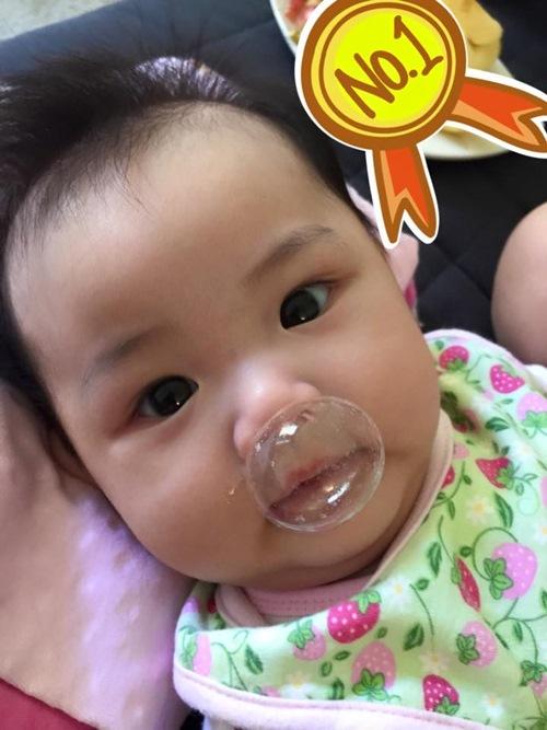 maya lan dau khoe can mat con gai 3 thang tuoi - 3