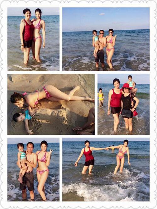 vu thu phuong dien bikini khoe dang tren bai bien - 2