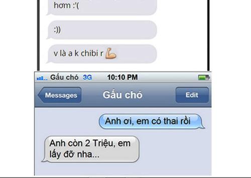 """tin nhan thu ban trai """"em da co thai"""": dua qua gioi han! - 1"""