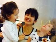Hậu trường - Gia đình Hồng Nhung hạnh phúc đi mua sắm ngày cuối tuần