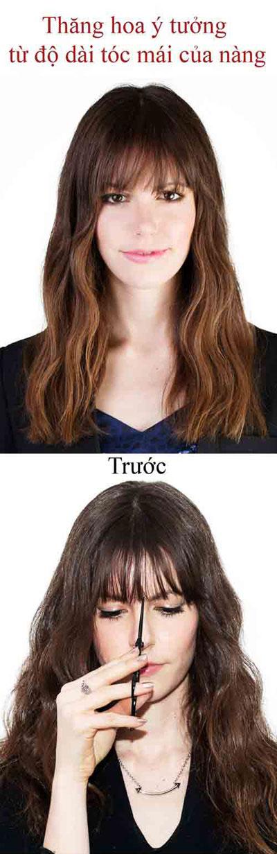 Thỏa sức biến tấu tóc mái không cần ra tiệm-1