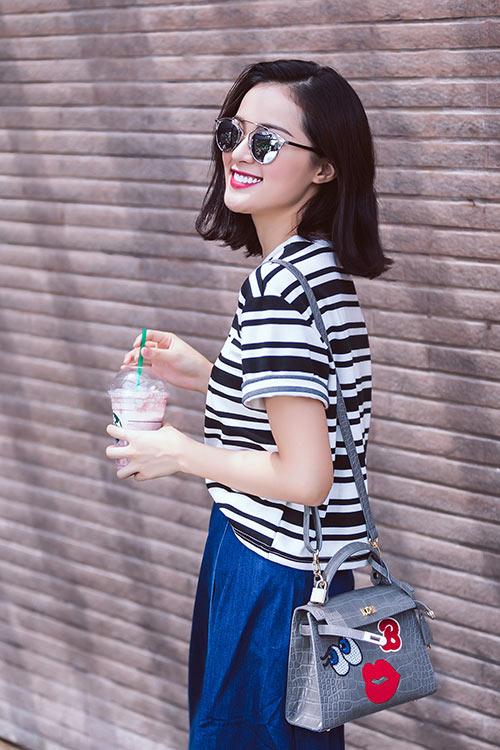 hot girl toc ngan mach nuoc mac ao phong that xinh - 13