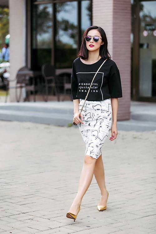 hot girl toc ngan mach nuoc mac ao phong that xinh - 2