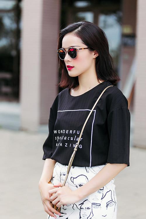 hot girl toc ngan mach nuoc mac ao phong that xinh - 3