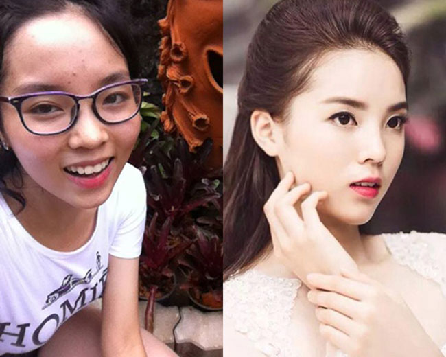 Đi tìm nhan sắc thật của sao Việt khi để mặt mộc