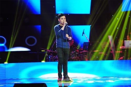 "the voice: co gai ""vua an keo vua hat"" ve doi mr. dam - 7"