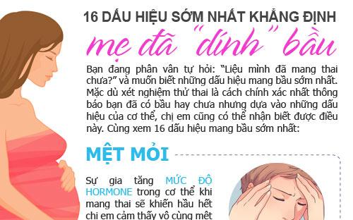 "16 dau hieu som nhat khang dinh me da ""dinh"" bau - 1"