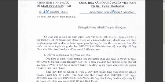 "buoc thoi viec giao vien dinh an ""giet nguoi"" - 1"