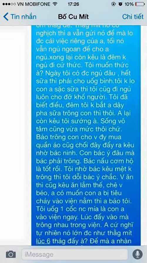 "ba me nhan tin ke kho cham con ""dai ca cay so"" len tieng - 2"
