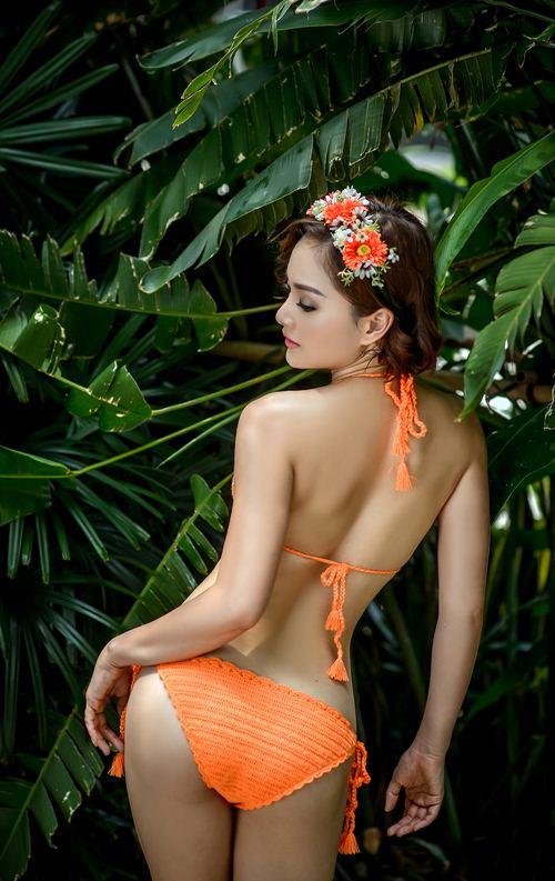 lan phuong khoe duong cong voi bikini o tuoi 32 - 5
