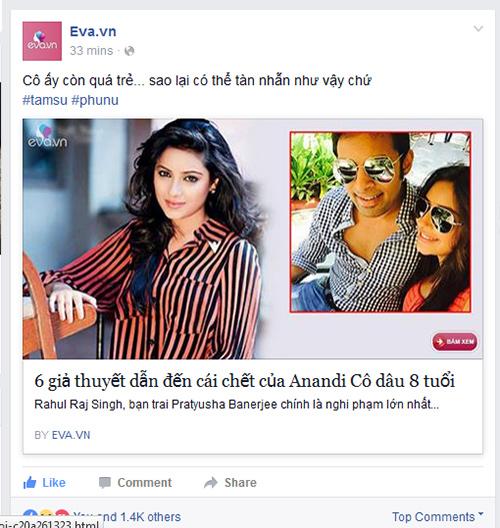 """Fan Việt tiếc thương sự ra đi của Anandi """"Cô dâu 8 tuổi""""-1"""