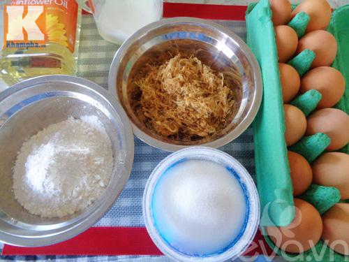 Đổi vị với bánh bông lan cuộn ruốc siêu ngon cho bữa sáng-1