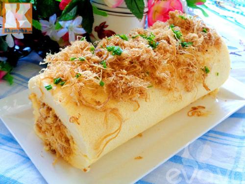 Đổi vị với bánh bông lan cuộn ruốc siêu ngon cho bữa sáng-8