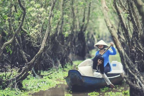"""phuong thanh mac ao dai diu dang nhu """"gai que"""" - 6"""