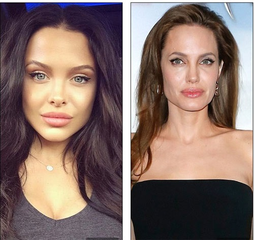 Bản sao quyến rũ sửng sốt của Angelina Jolie-2