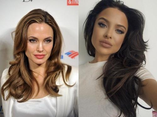Bản sao quyến rũ sửng sốt của Angelina Jolie-1